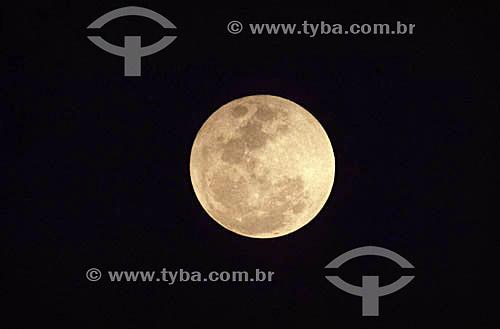 Assunto: Vista da Lua cheia em São Paulo / Local: São Paulo (SP) - Brasil / Data: 2008