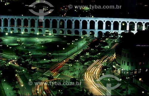 Assunto: Vista noturna dos Arcos da LapaLocal: Centro do Rio de Janeiro - RJData:
