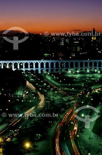 Assunto: Vista noturna dos Arcos da LapaLocal: Centro do Rio de Janeiro - RJData: 2008