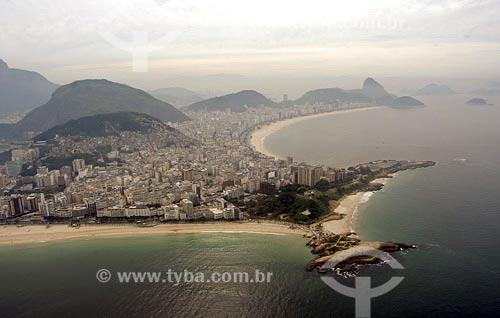 Assunto: Vista aérea das praias de Ipanema, Arpoador e CopacabanaLocal: Rio de Janeiro - RJData: 28/06/2004