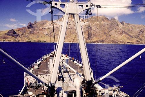 Assunto: Barco chegando na Ilha de TrindadeLocal: Espírito SantoData: