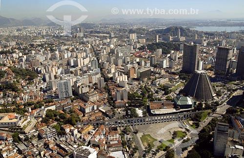 Assunto: Vista aérea do centro da cidadeLocal: Rio de Janeiro - RJData: 05/08/2006