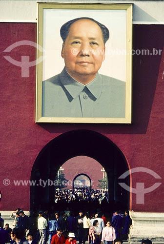 Assunto: Imagem de Mao Tse TungLocal: Cidade Proibída - Pequim - China