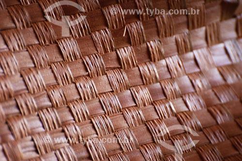 Assunto: Artesanato em Palha - CarnaúbaLocal: Alto Rodrigues - Vale do Açuu - Rio Grande do NorteData: Abril de 2008