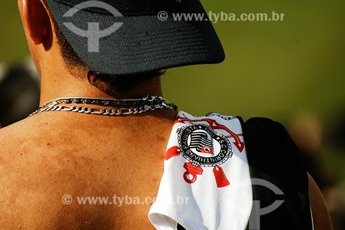 Assunto: Torcedor do Corinthians em jogo no estádio Morumbi / Local: São Paulo - SP / Data: 03/2008