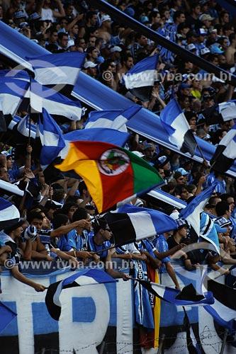 Assunto: Torcida do Grêmio FC no estádio Olimpico Monumental / Local: Porto Alegre - RS / Data: 04/2008