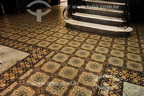 Assunto: Azulejo português e escada no Colégio Pedro II / Local: Avenida Marechal Floriano, Centro - Rio de Janeiro - RJ - Brasil / Data: 02/2008