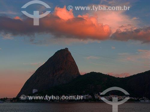 Assunto: Nuvem acima do Pão de Açúcar / Local: Rio de Janeiro - RJ / Data: 02/2008