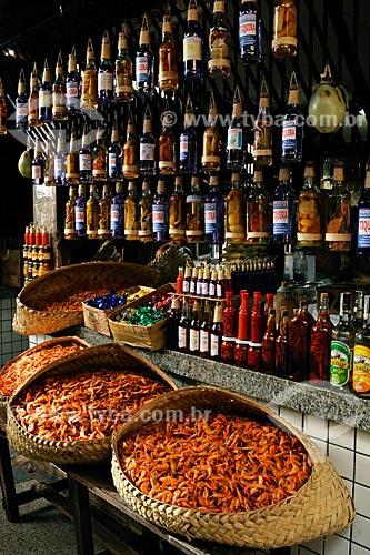 Assunto: Camarões e pimentas - Mercadinho do Centro Histórico de São Luis / Local: São Luis - MA / Data: 08/2008