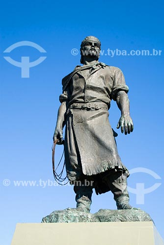 Assunto: Estátua do Laçador, símbolo de Porto Alegre / Local: Porto Alegre - RS - Brasil / Data: 06/07/2008
