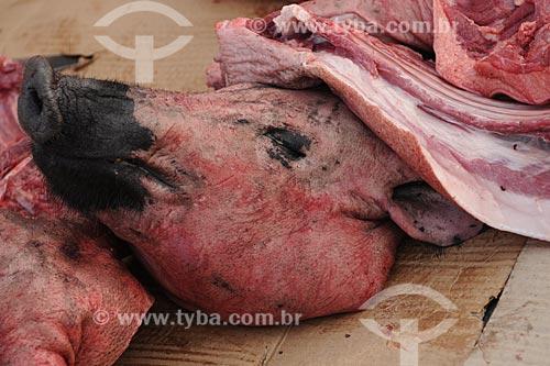 Assunto: Cabeça de porco morto no Mercado Ver-o-peso / Local: Belém (PA) / Data: 10 de Outubro de 2008