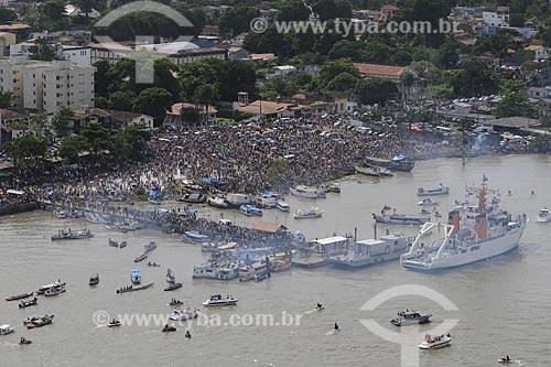 Assunto: Procissão fluvial para Nossa Senhora de Nazaré - Porto de Icoaraci / Local: Belém (PA) / Data: 11 de Outubro de 2008