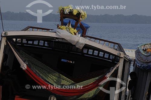Assunto: Barco com imagem de Nossa Senhora de Nazaré / Local: Belém (PA) / Data: 13 de Outubro de 2008