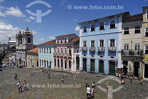 Assunto: Largo do Pelourinho - Igreja Nossa Senhora do Rosário dos Pretos - século XVIII / Local: Salvador (BA) / Data: 03 de Novembro de 2006