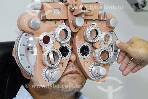 Assunto: Exame oftalmológico / Local: Cascavel (PR) / Data: 07 de Fevereiro de 2007