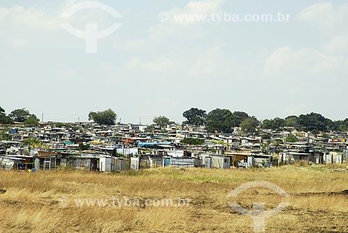 Assunto: Favelas da periferia de Johannesburg / Local: Johannesburg - África do Sul / Data: 11 de Março de 2007