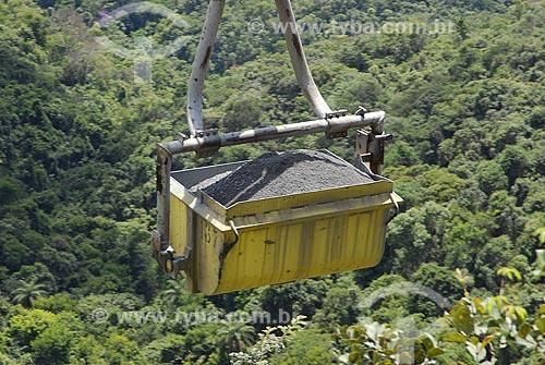 Assunto: Teleférico para transporte de minérios de ouro / Local: Nova Lima (MG) / Data: 19 de Março de 2007