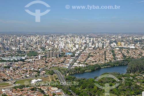 Assunto: Vista aérea da Lagoa do Taquaral / Local: Campinas (SP) / Data: 11 de Abril de 2007