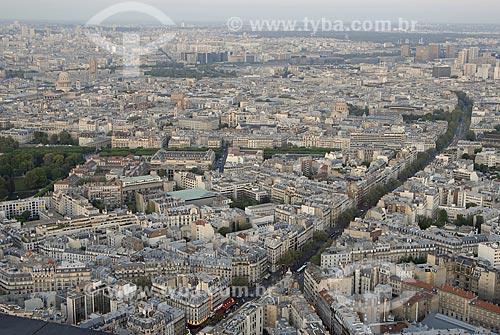 Assunto: Vista aérea de Paris no entardecer, região do Quartier Latin / Local: Paris - França / Data: 20 de Abril de 2007