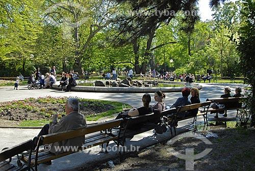 Assunto: Praça pública no centro de Viena / Local: Viena - Áustria / Data: 21 de Abril de 2007
