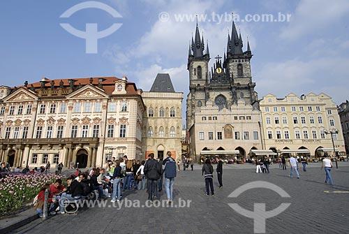Assunto: Praça da Cidade Velha de Praga e Igreja Nossa Senhora Diante de Týn / Local: Praga - República Tcheca / Data: 23 de Abril de 2007