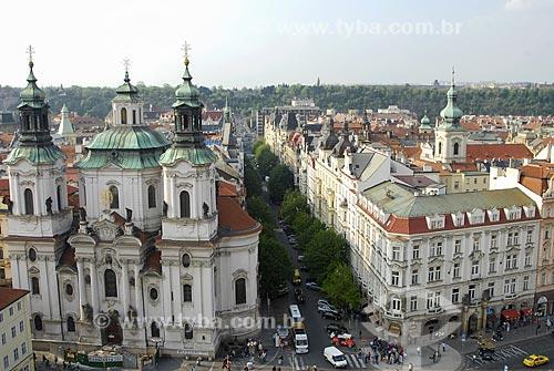 Assunto: Praça da Cidade Velha de Praga e Igreja Nossa Senhora Diante de Týn / Local: Praga - República Tcheca / Data: 24 de Abril de 2007