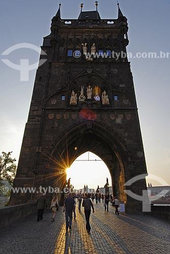 Assunto:Torre da Ponte Carlos / Local: Praga - República Tcheca / Data: 23 de Abril de 2007