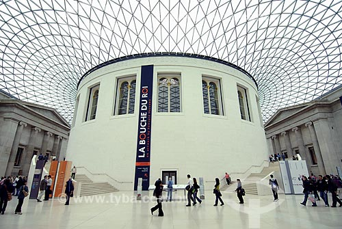 Assunto: Museu Britânico (British Museum) - Sala de Leitura (Reading Room) / Local: Londres - Inglaterra / Data: 26 de Abril de 2007