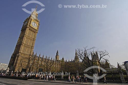 Assunto: Parlamento e Big Ben / Local: Londres - Inglaterra / Data: 27 de Abril de 2007