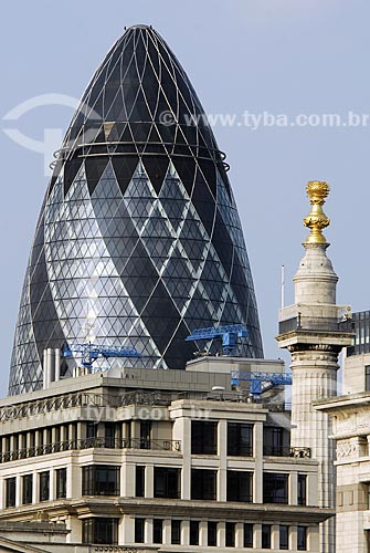 Assunto: Gherkin - 30 St. Mary Axe / Local: Londres - Inglaterra / Data: 28 de Abril de 2007