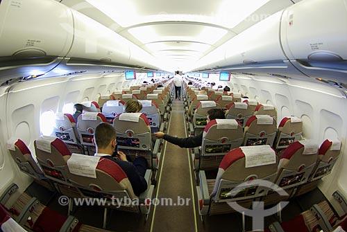 Assunto: Interior do Airbus 319 da TAM / Local: Goiânia (GO) / Data: 26 de Maio de 2007