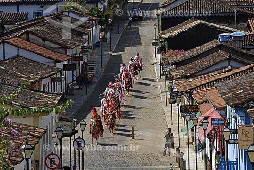 Assunto: Cavaleiros da Cavalhada desfilam pelo centro de Pirenópolis / Local: Pirenópolis (GO) / Data: 28 de Maio de 2007