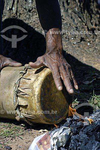 Assunto: Grupo Folclorico Tambor Crioula de Leonardo- Grupo de São Luis - Maranhão / Local: Olímpia (SP) / Data: 11 de Agosto de 2007
