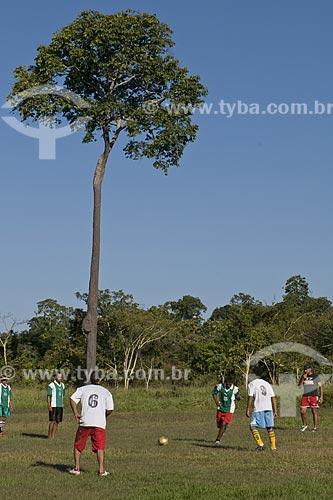 Assunto: Jogo de futebol na reserva extrativista Cachoeira / Local:  Acre (AC) / Data: 12 de Julho de 2008
