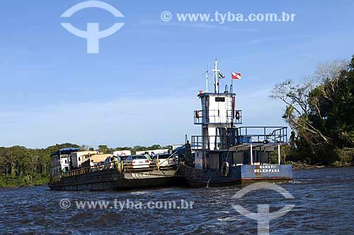 Assunto: Barco Rebocador em rio da Amazônia / Local: Pará / Data: 18 de Julho de 2008