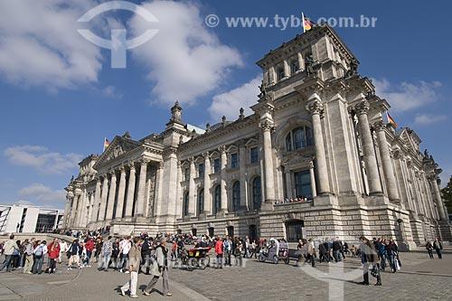 Assunto: Vista externa do prédio do Reichstag em Berlim /  Local: Berlim - Alemanha / Data: 27 de Setembro de 2008