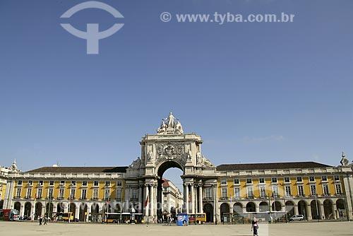 Assunto: Praça do Comércio e Arco Triunfal / Local: Lisboa - Portugal / Data: 24 de Julho de 2006