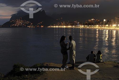 Assunto: Praia do Arpoador a noite / Local: Rio de Janeiro (RJ) / Data: 09 de Março de 2008
