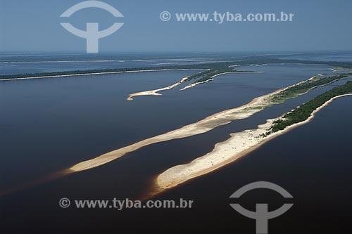 Assunto: Praia na Estação Ecológica de Anavilhanas (ESEC), no rio Negro / Local: Amazonas (AM) / Data: 26 de Outubro de 2007