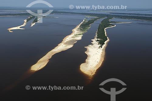 Assunto: Praia na Estação Ecológica Anavilhanas (ESEC), no rio Negro / Local: Amazonas (AM) / Data: 26 de Outubro de 2007