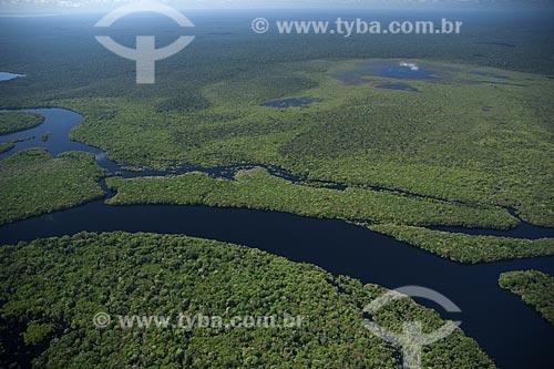 Assunto: Vista aérea do Parque Nacional Jaú, no rio Negro acima de Manaus / Local: Amazonas (AM) / Data: 30 de junho de 2007