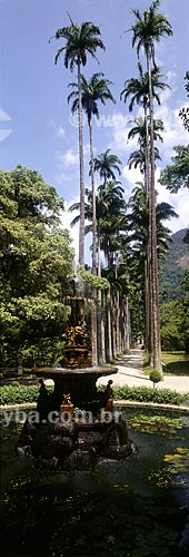 Assunto: O Chafariz das Musas feito de ferro fundido (final do século XIX), tem várias alegorias, entre elas quatro figuras que representam a poesia, a música, a ciência e a arte / Local: Rio de Janeiro - RJ - Brasil / Data: 1994