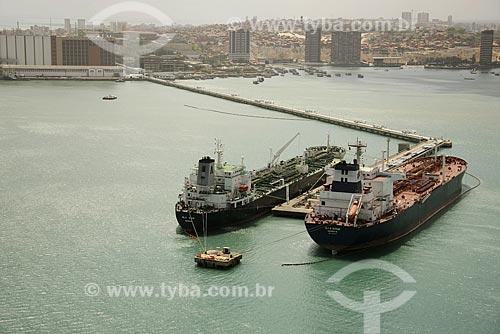 Assunto: Vista aérea de navios ancorados no Porto de Fortaleza / Local: Fortaleza - Ceará (CE) - Brasil / Date: Janeiro de 2009