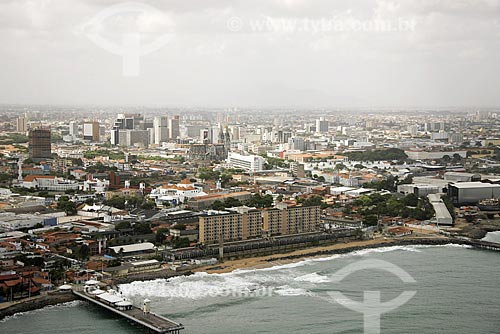 Assunto: Vista aérea do Centro urbano de Fortaleza / Local: Fortaleza - Ceará (CE) - Brasil / Date: Janeiro de 2009
