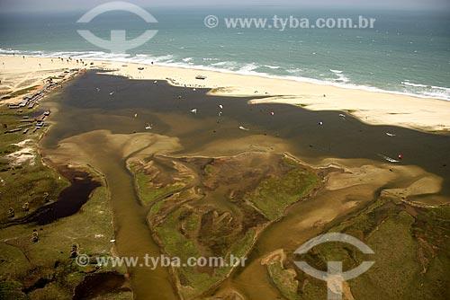 Assunto: Lagoa de Cauípe onde se concentram os praticantes de Kite Surf / Local: Fortaleza - Ceará (CE) - Brasil / Data: Janeiro de 2009