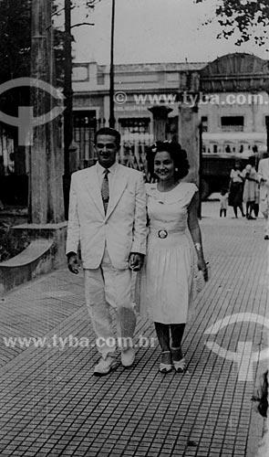Assunto: Rui Luis de Almeida  e Maria Evangelina Rodrigues de Almeida / Local: Belém - Pará / Data: anos 40