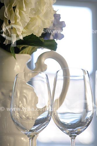 Assunto: Taças de vinho / Local: Rio de Janeiro - RJ - Brasil / Data: Maio de 2008