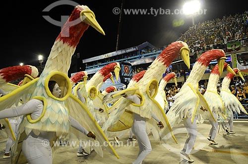 Assunto: Carnaval - Desfile da Escola de Samba Portela / Local: Sambódromo - Rio de Janeiro - RJ - Brasil / Data: 24/02/2009