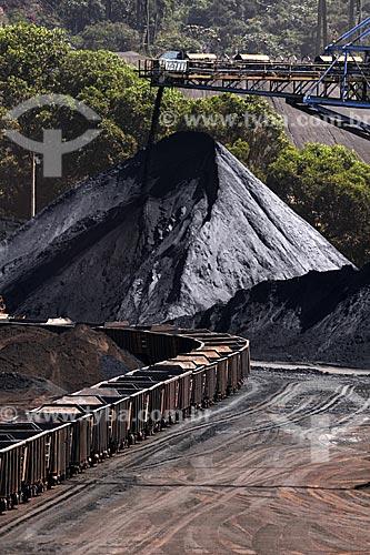 Assunto: Carregamento de minério de ferro nos vagões de trem para transporte ferroviário - Mina da Fábrica Nova- Mina Alegria - Complexo de Mariana / Local: Minas Gerais (MG) - Brasil / Data: 20/04/2009