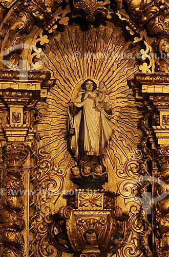 Assunto: Altar de Nossa Senhora do Carmo na Igreja Nossa Senhora da Boa Viagem / Local: Itabirito - Minas Gerais (MG) - Brasil / Data: 18-04-2009